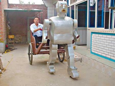 Mr. Wu and his rickshaw robot